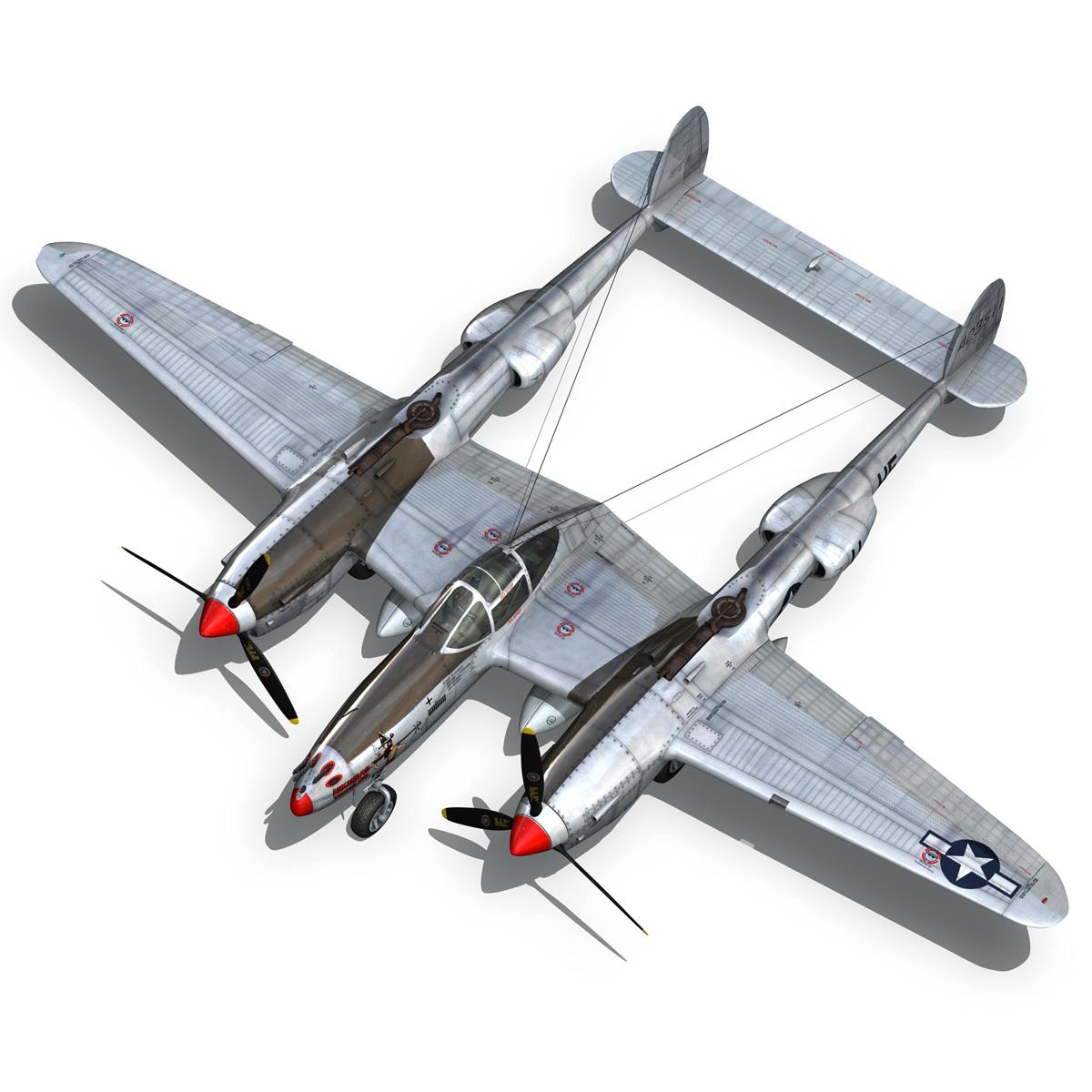 lockheed p-38 lightning – arkansas traveler 3d model fbx lwo lw lws obj c4d 266751
