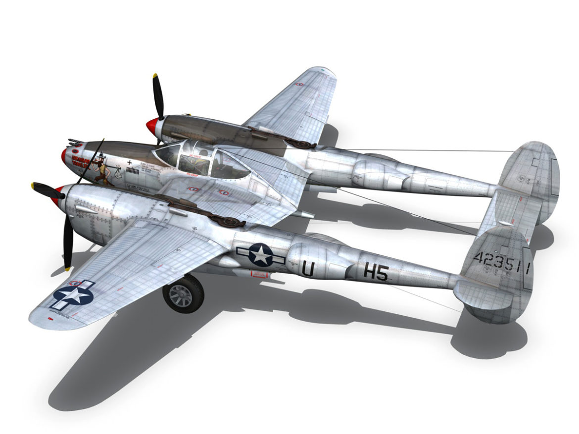 Lockheed P-38 Lightning - Arkansas Traveler 3d model