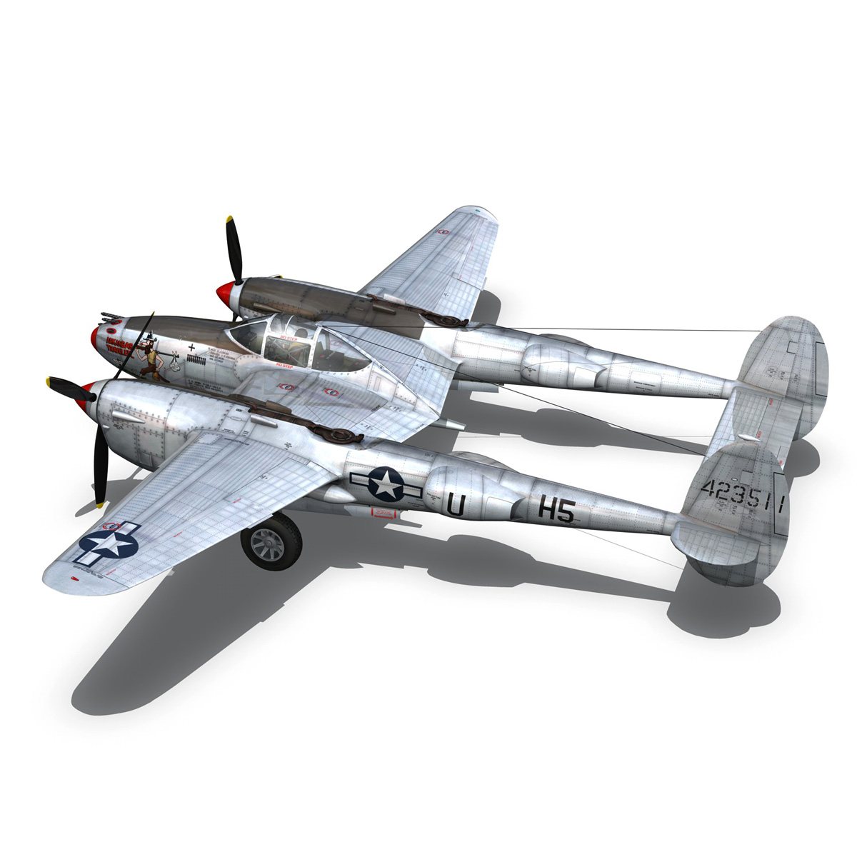 lockheed p-38 lightning – arkansas traveler 3d model fbx lwo lw lws obj c4d 266753