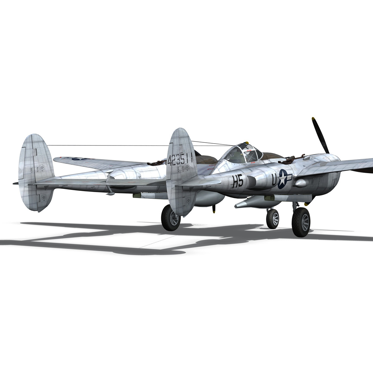 lockheed p-38 lightning – arkansas traveler 3d model fbx lwo lw lws obj c4d 266754