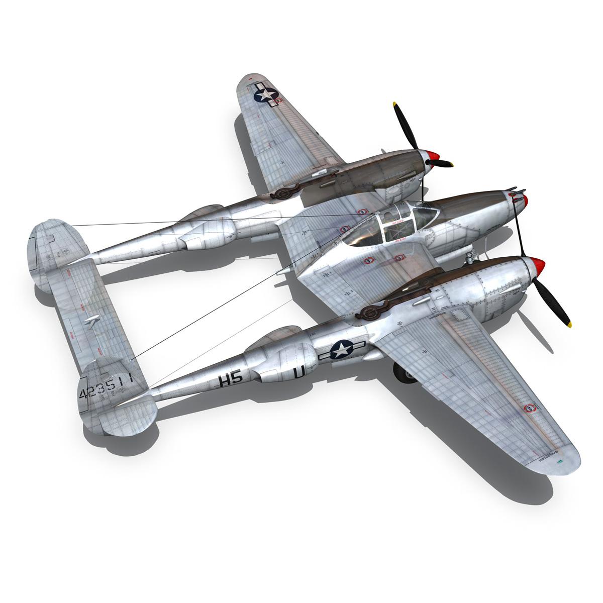 lockheed p-38 lightning – arkansas traveler 3d model fbx lwo lw lws obj c4d 266755