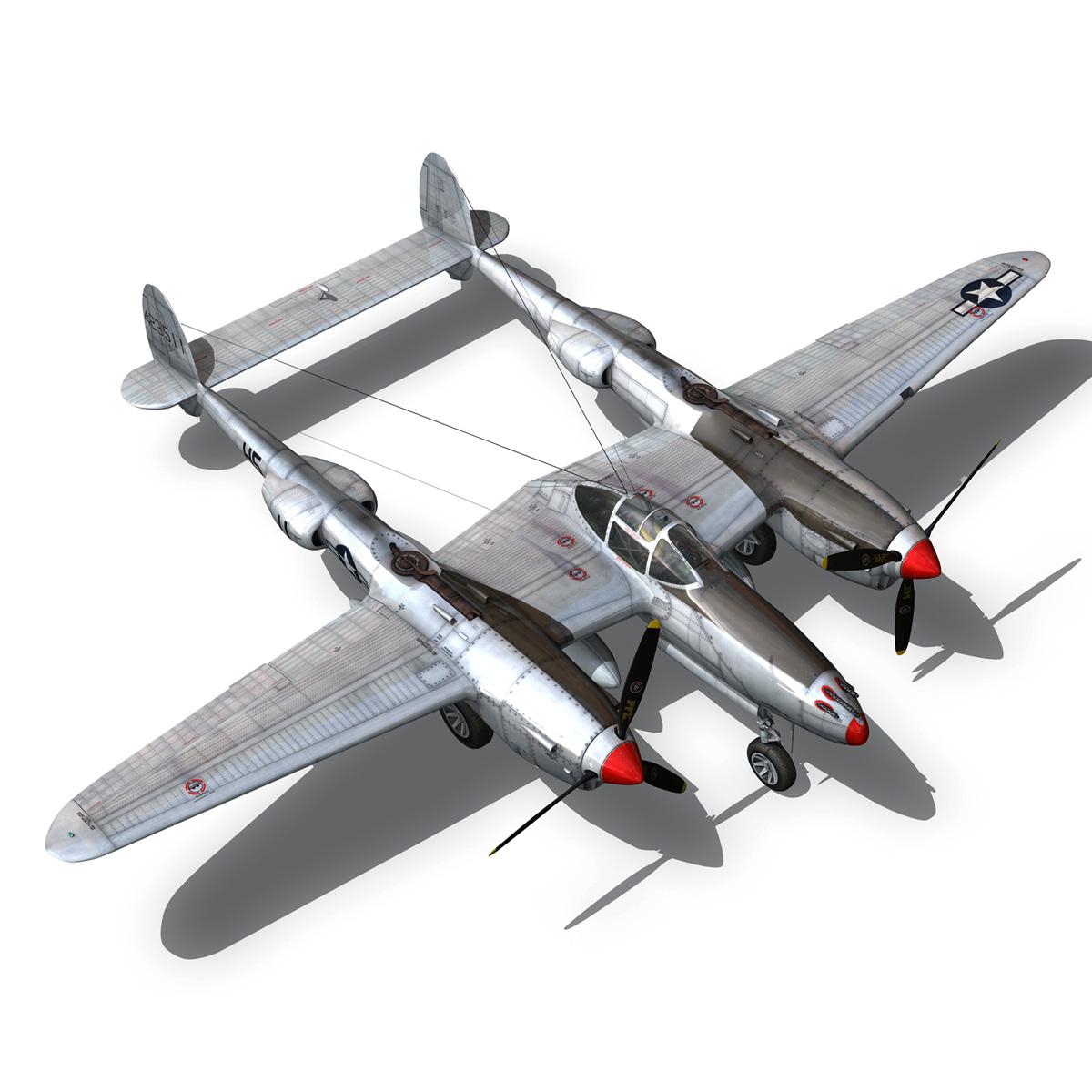 lockheed p-38 lightning – arkansas traveler 3d model fbx lwo lw lws obj c4d 266756