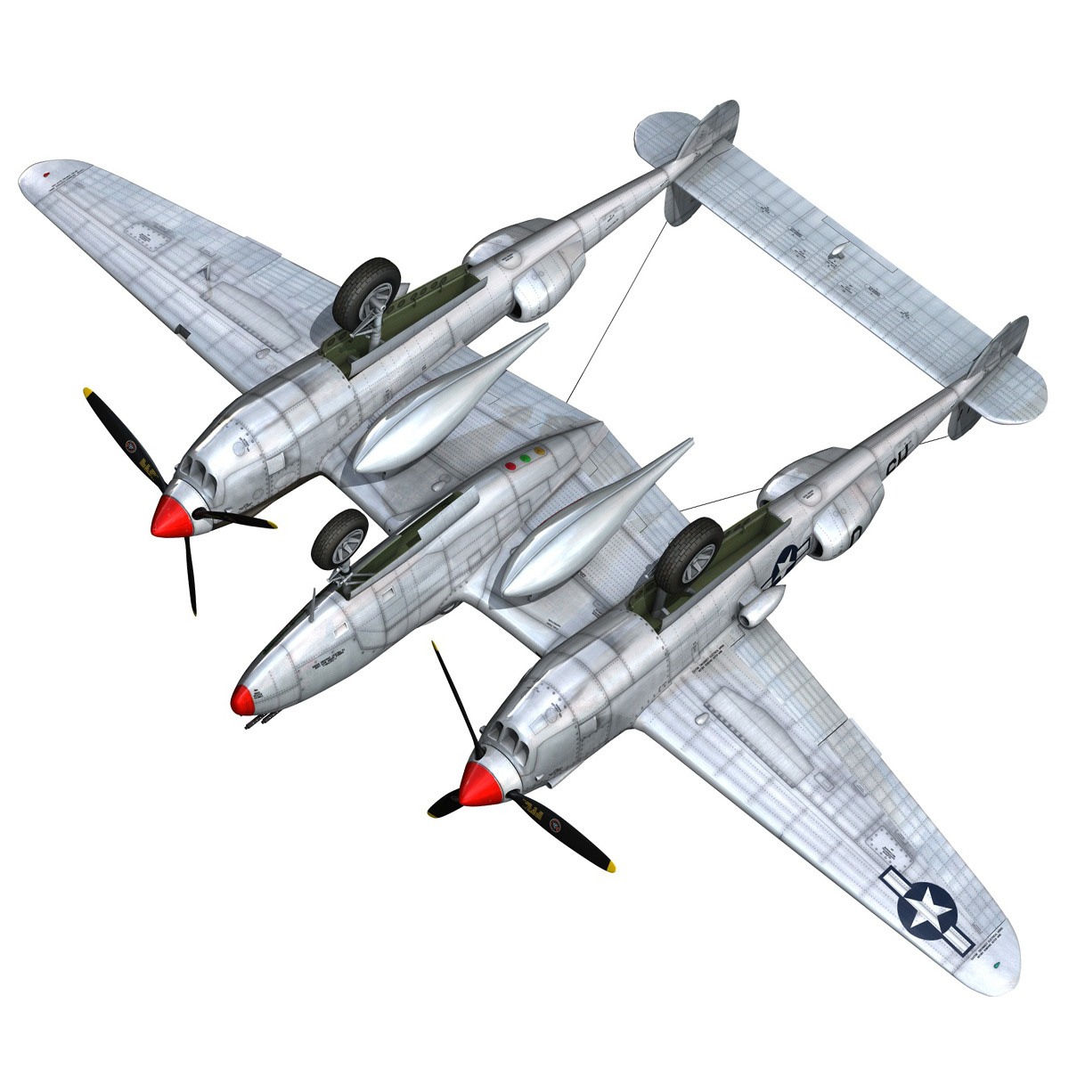 lockheed p-38 lightning – arkansas traveler 3d model fbx lwo lw lws obj c4d 266758