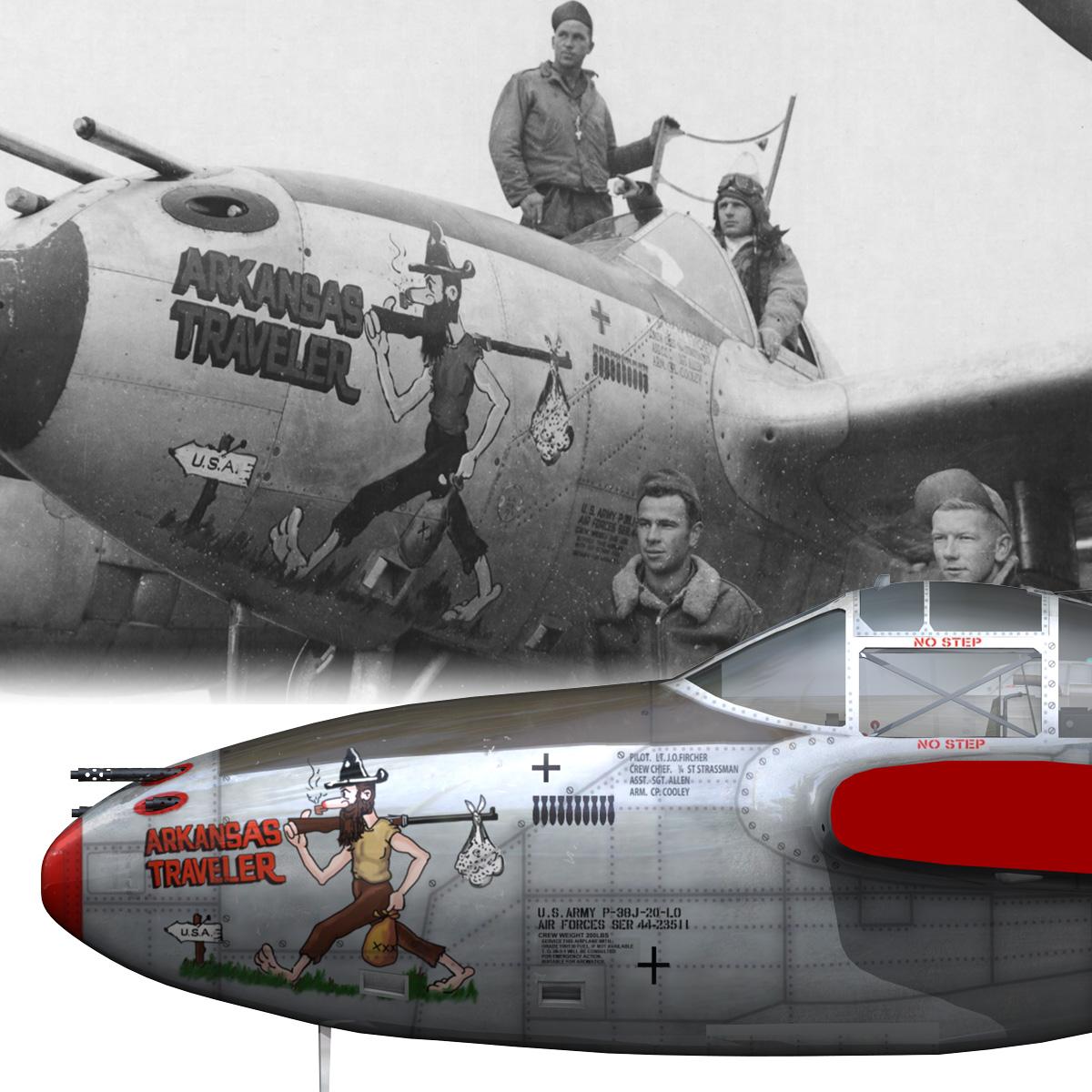 lockheed p-38 lightning – arkansas traveler 3d model fbx lwo lw lws obj c4d 266759