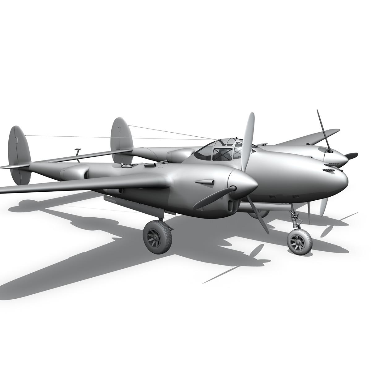 lockheed p-38 lightning – arkansas traveler 3d model fbx lwo lw lws obj c4d 266760