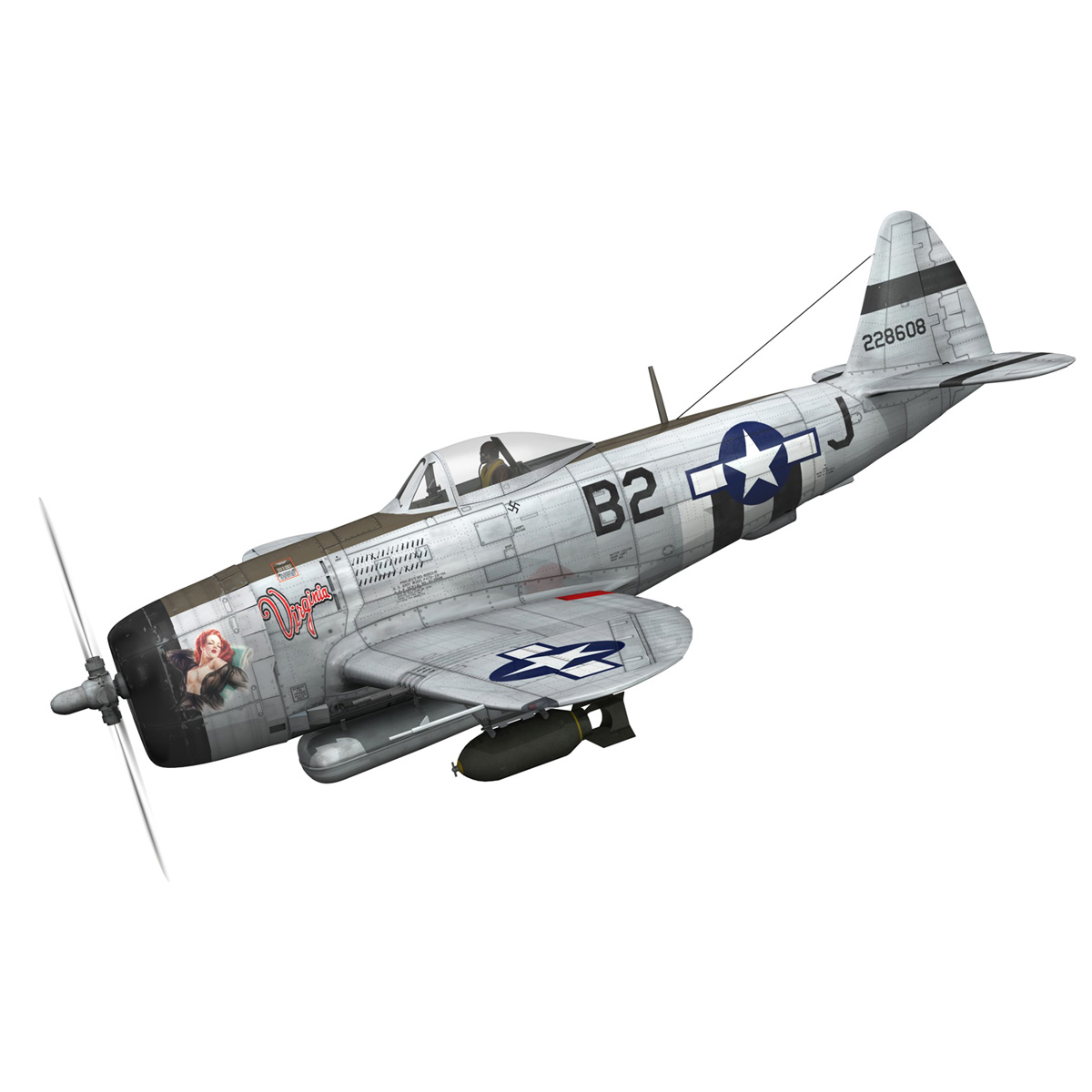 Republic P-47D Thunderbolt - Virginia 3d model  266769