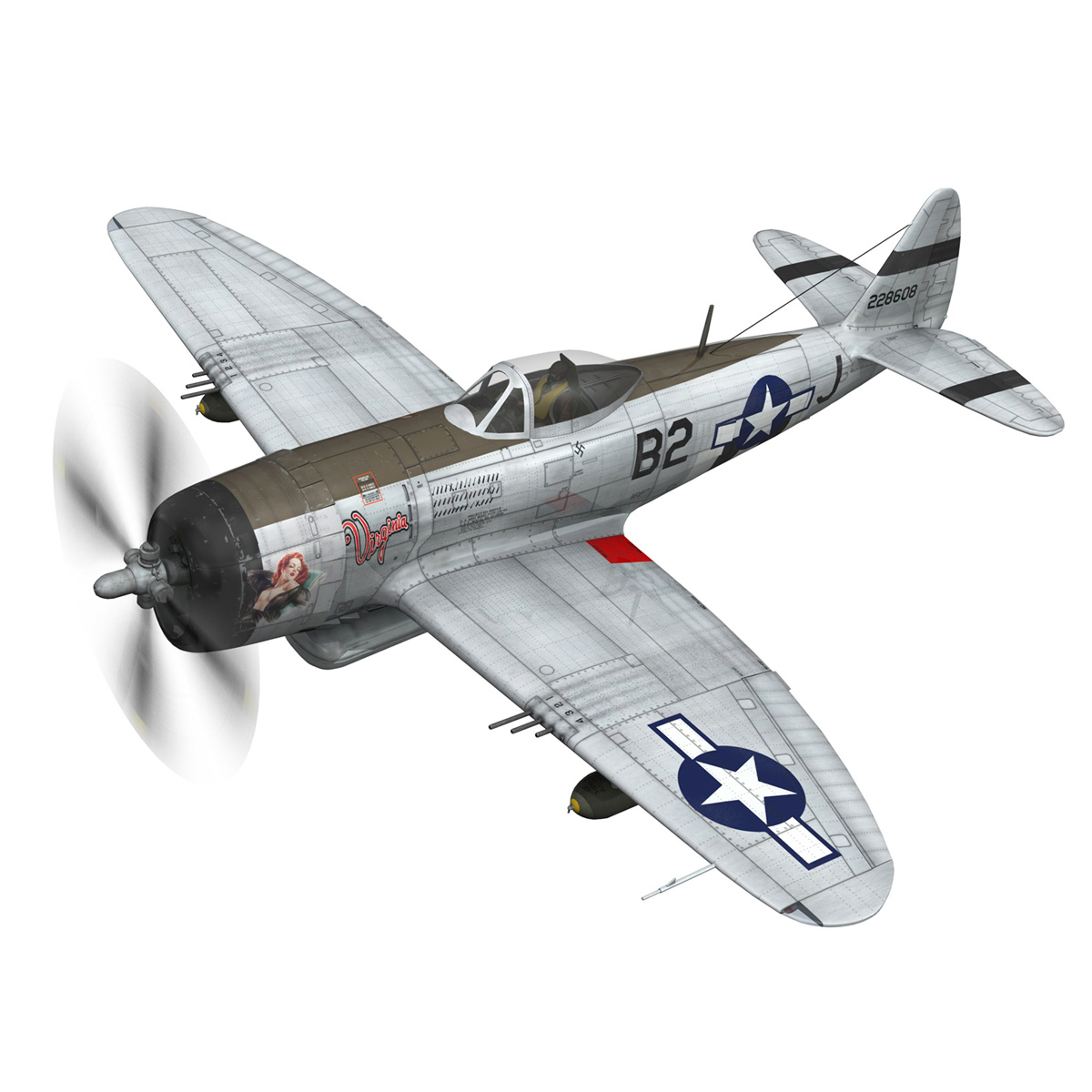 Republic P-47D Thunderbolt - Virginia 3d model  266770