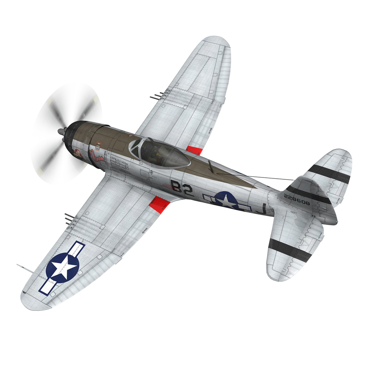 Republic P-47D Thunderbolt - Virginia 3d model  266772