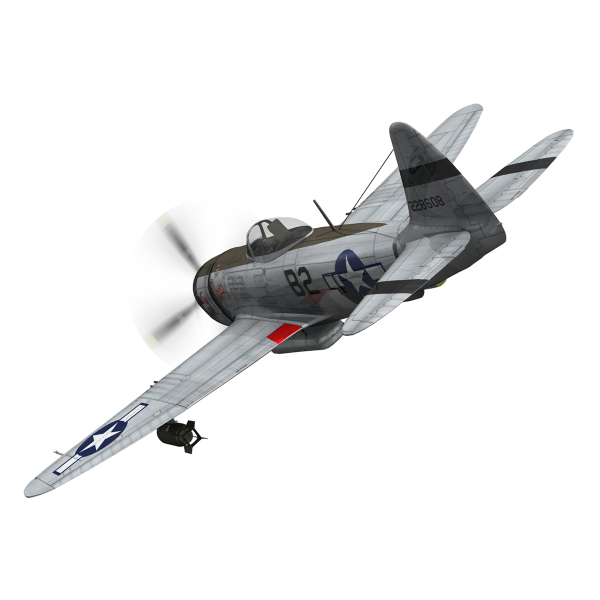 Republic P-47D Thunderbolt - Virginia 3d model  266773