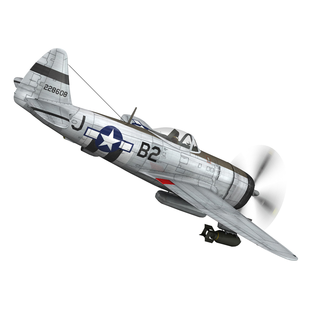 Republic P-47D Thunderbolt - Virginia 3d model  266774