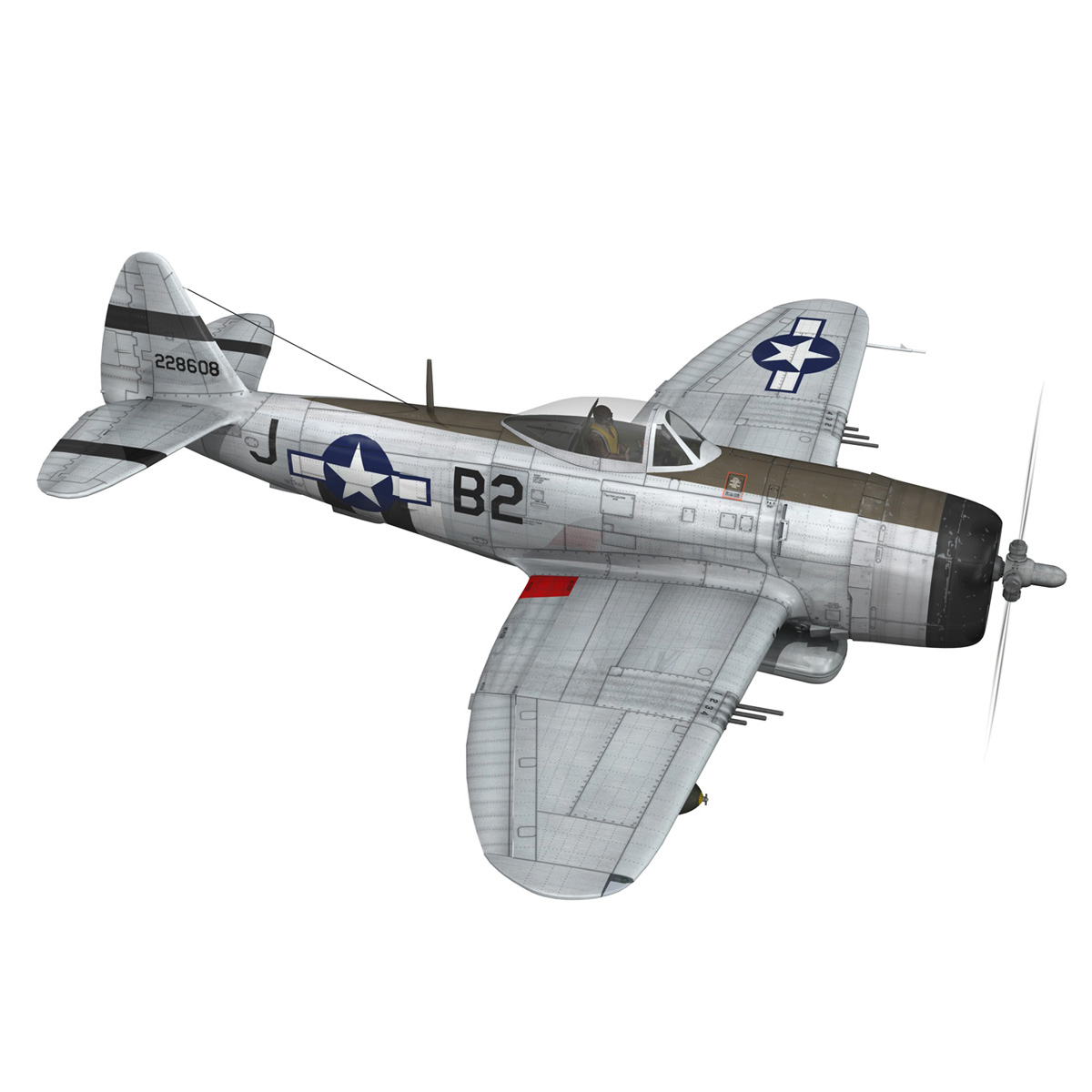 Republic P-47D Thunderbolt - Virginia 3d model  266775
