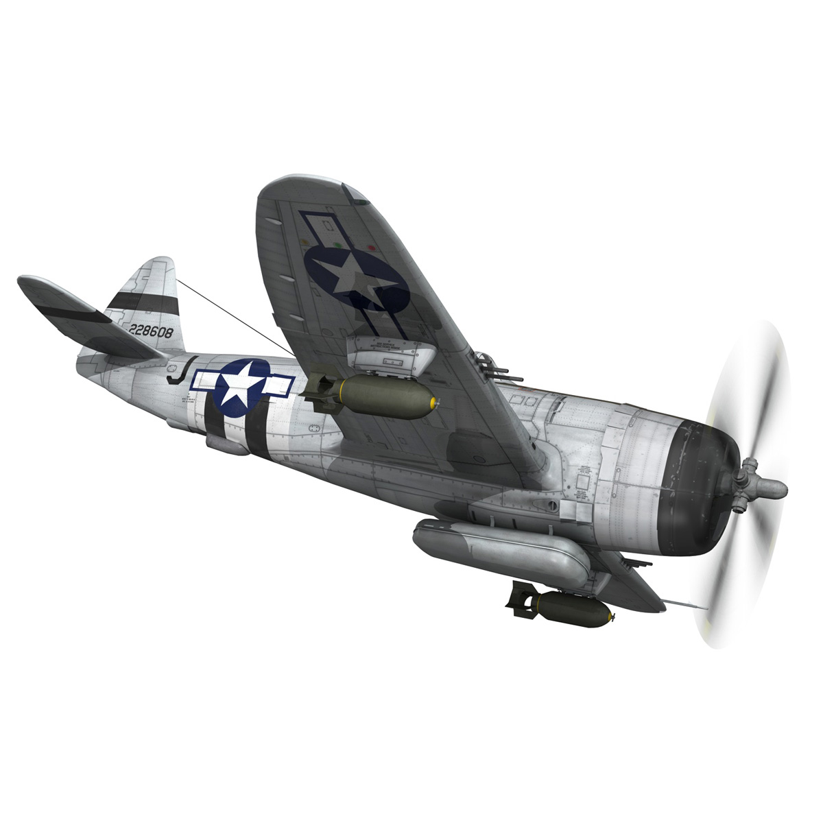 Republic P-47D Thunderbolt - Virginia 3d model  266776