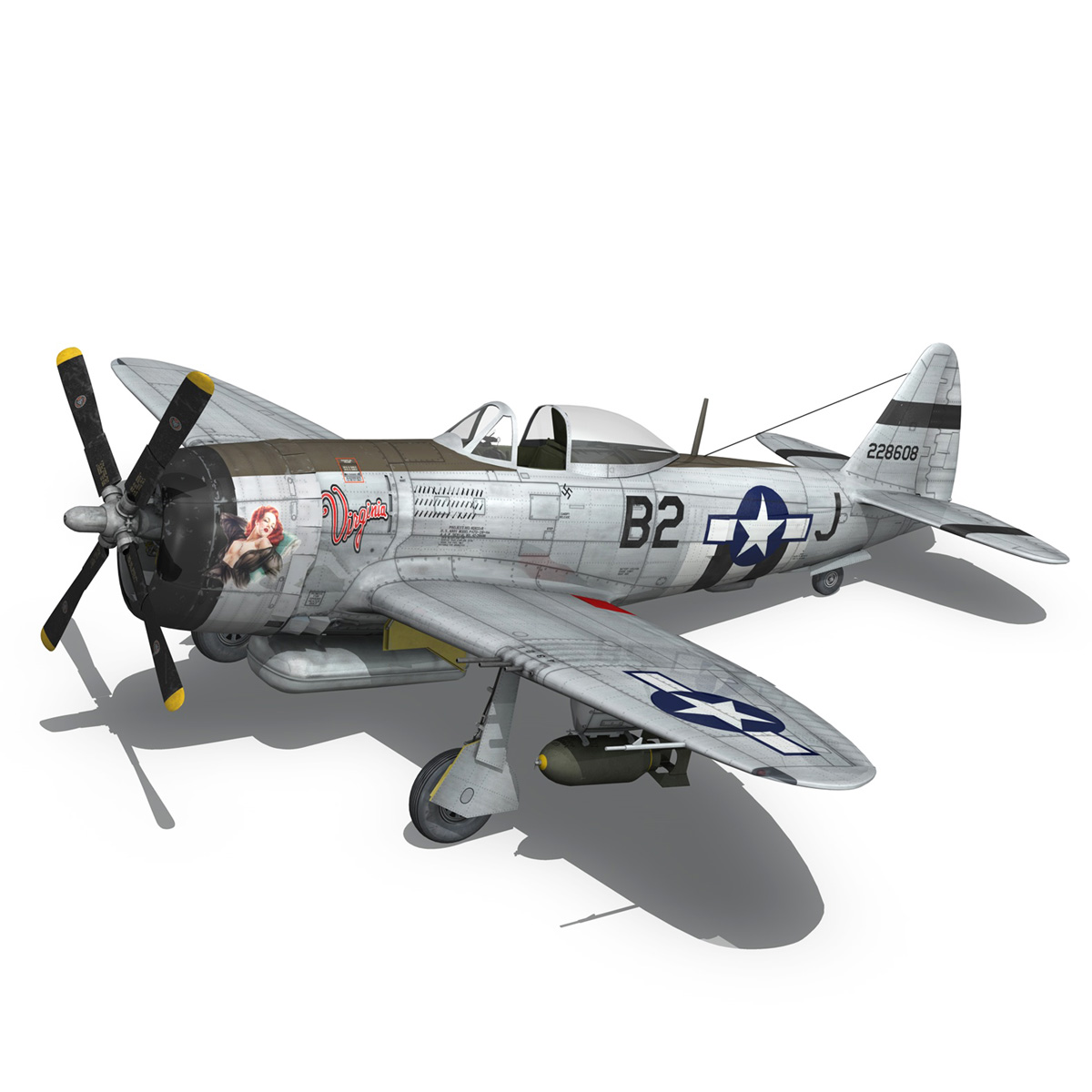 Republic P-47D Thunderbolt - Virginia 3d model  266777