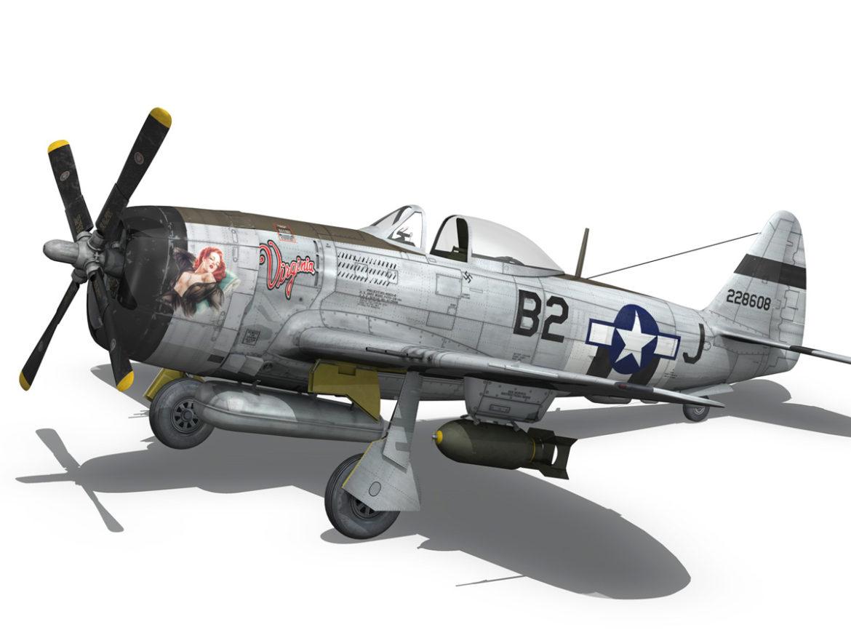 Republic P-47D Thunderbolt - Virginia 3d model 0