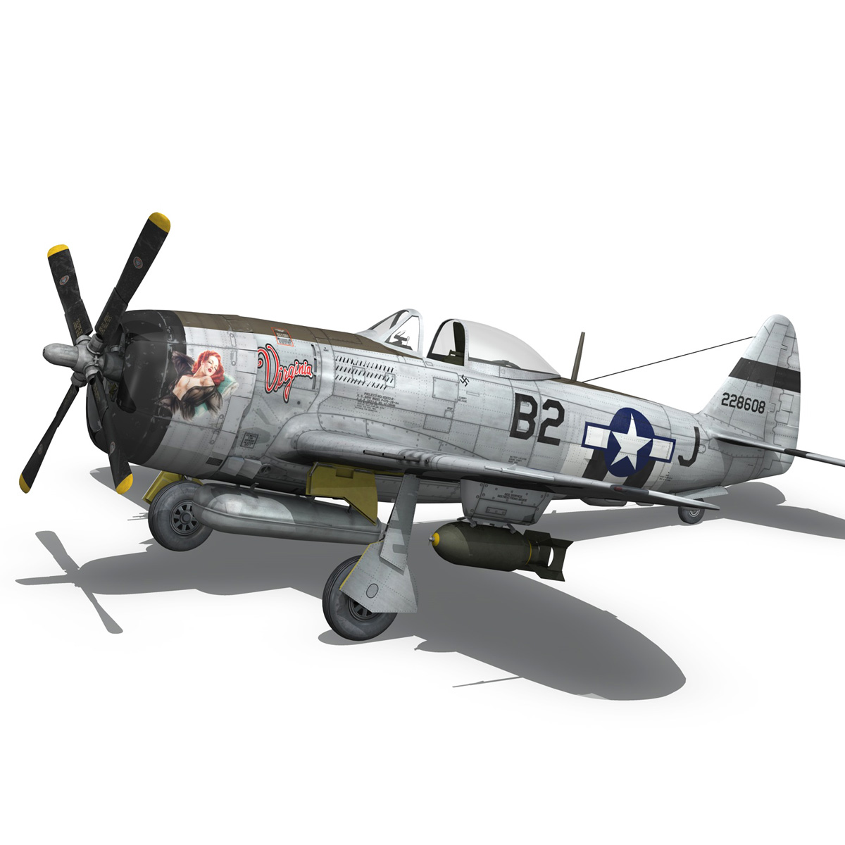 Republic P-47D Thunderbolt - Virginia 3d model  266778