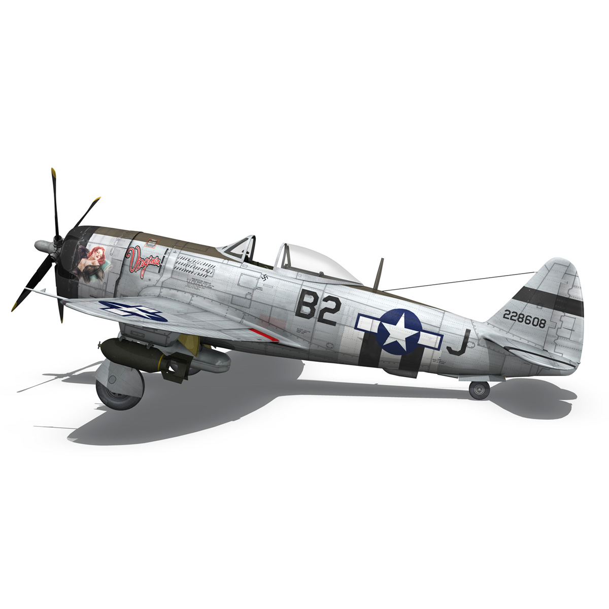Republic P-47D Thunderbolt - Virginia 3d model  266779