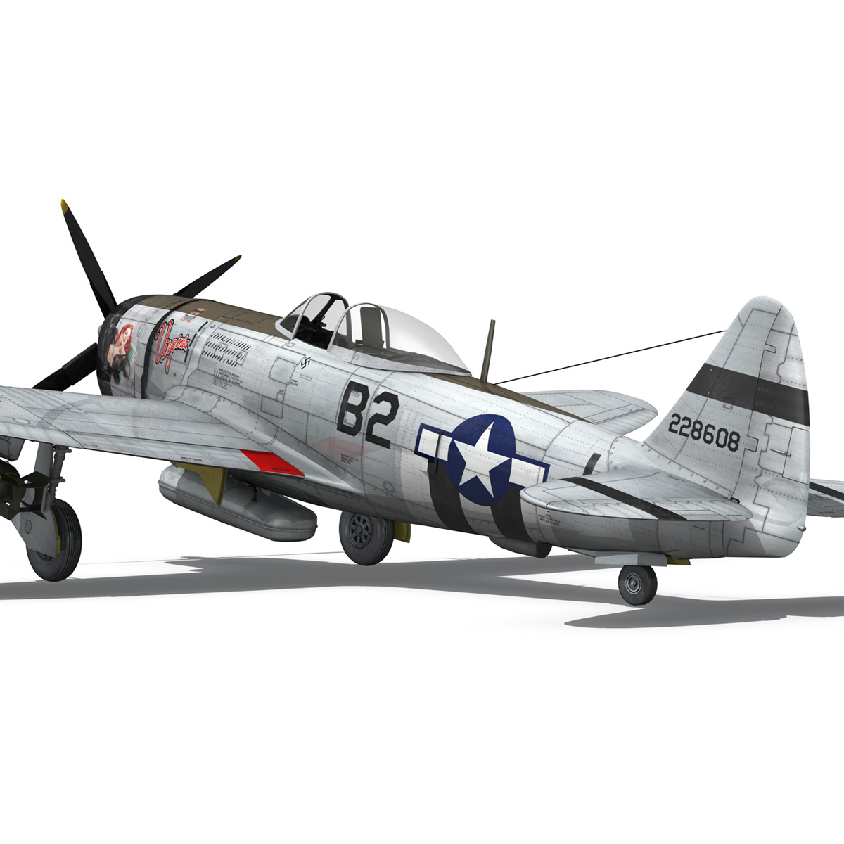Republic P-47D Thunderbolt - Virginia 3d model  266780