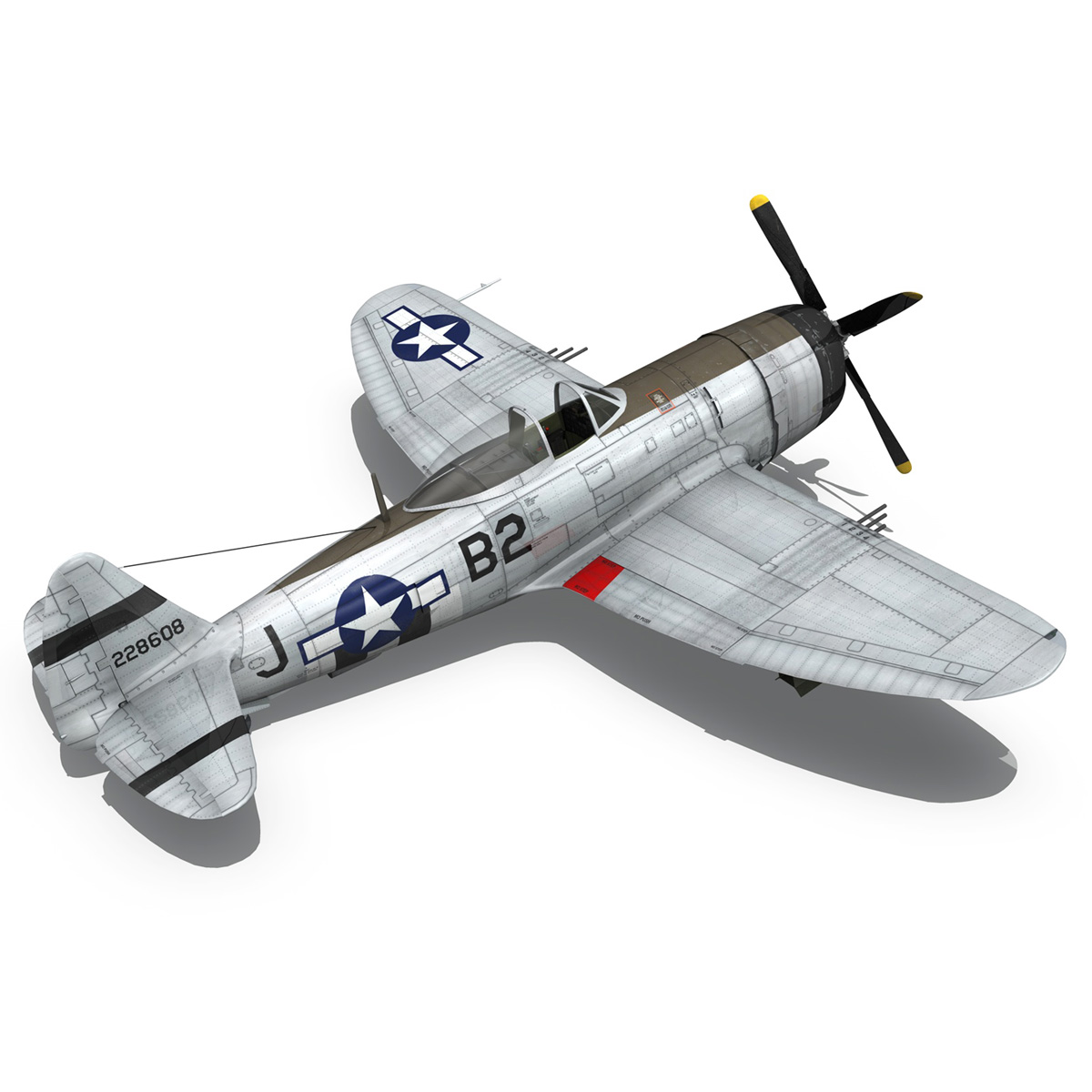 Republic P-47D Thunderbolt - Virginia 3d model  266781
