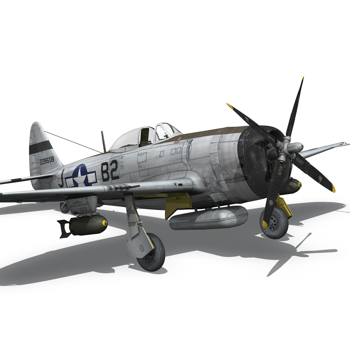 Republic P-47D Thunderbolt - Virginia 3d model  266782