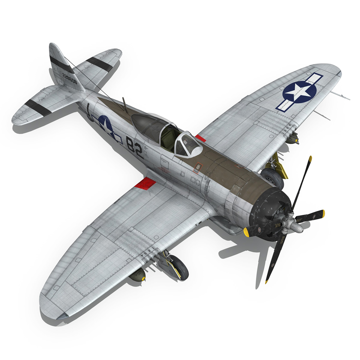 Republic P-47D Thunderbolt - Virginia 3d model  266783
