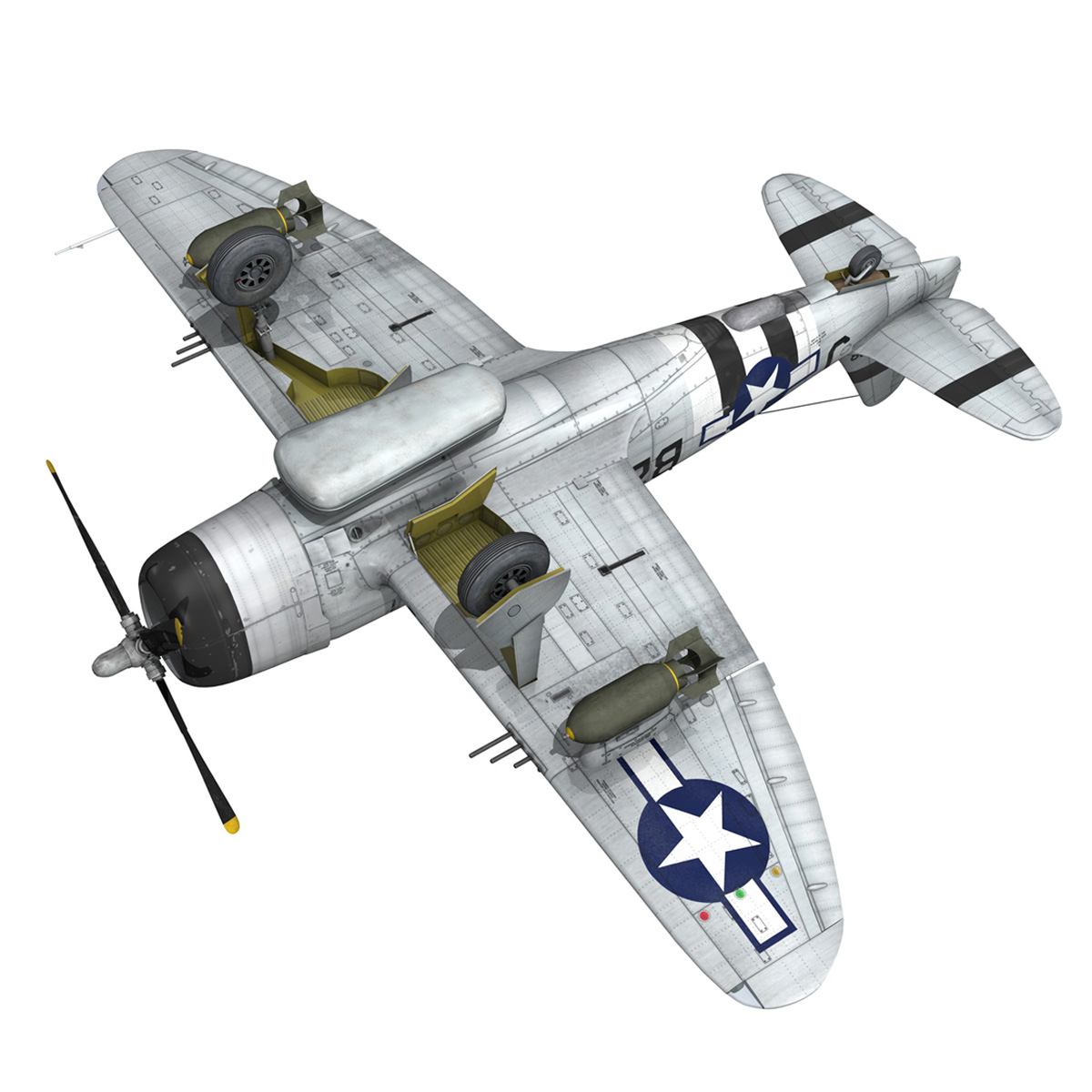 Republic P-47D Thunderbolt - Virginia 3d model  266786