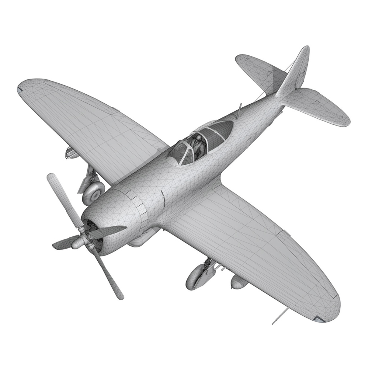 Republic P-47D Thunderbolt - Virginia 3d model  266787