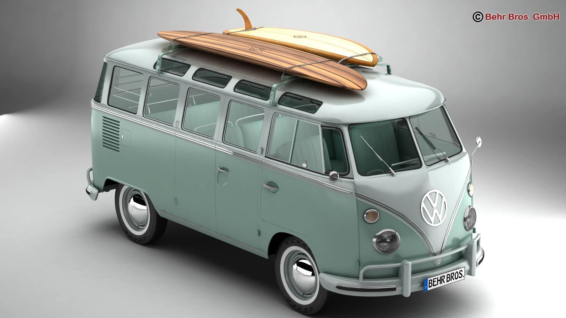 Volkswagen T1 Samba 1963 Accessories 3d model 3ds max fbx c4d lwo ma mb obj 266830