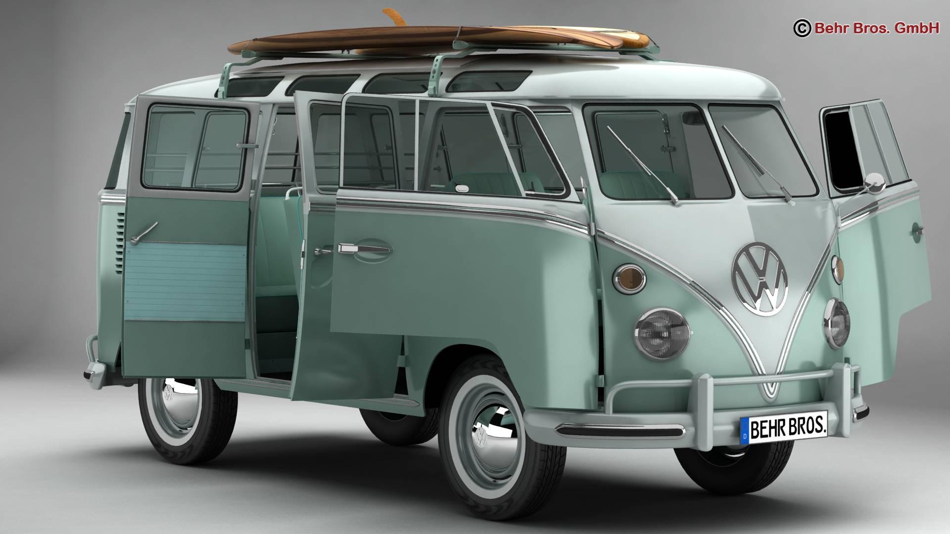 Volkswagen T1 Samba 1963 Accessories 3d model 3ds max fbx c4d lwo ma mb obj 266832