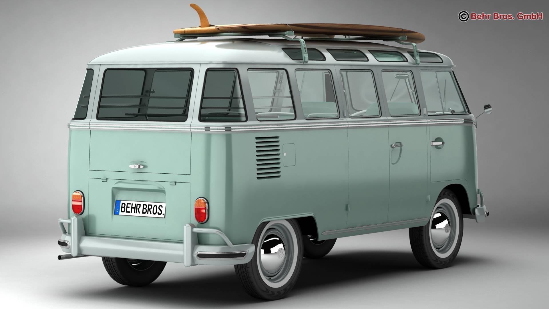 Volkswagen T1 Samba 1963 Accessories 3d model 3ds max fbx c4d lwo ma mb obj 266833