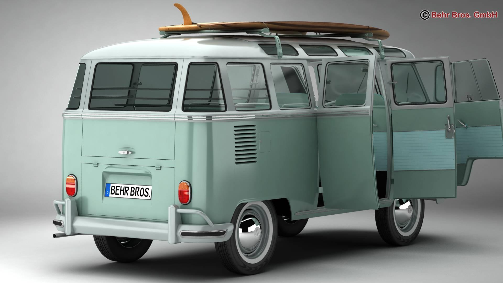 Volkswagen T1 Samba 1963 Accessories 3d model 3ds max fbx c4d lwo ma mb obj 266834