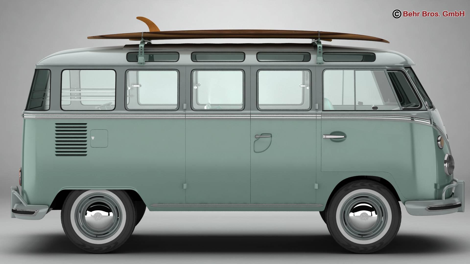 Volkswagen T1 Samba 1963 Accessories 3d model 3ds max fbx c4d lwo ma mb obj 266835
