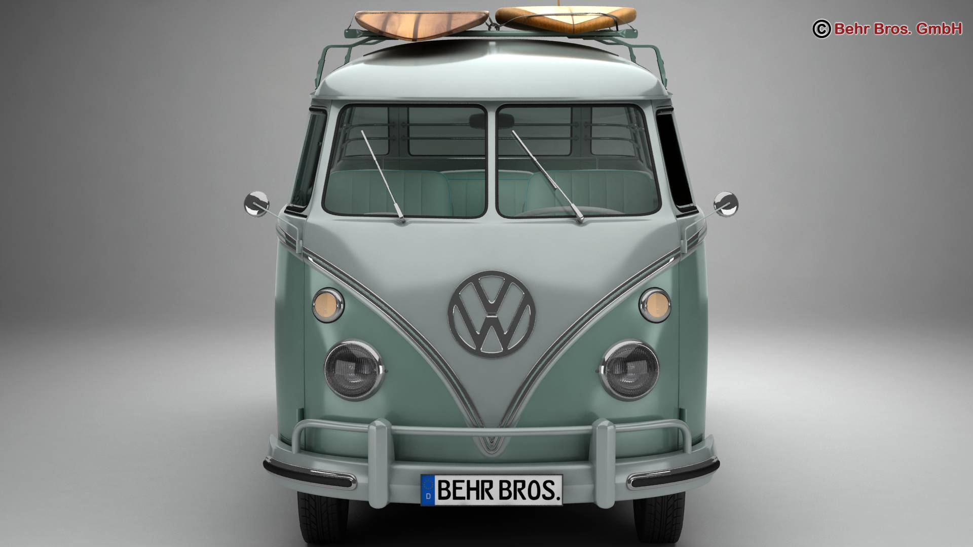 Volkswagen T1 Samba 1963 Accessories 3d model 3ds max fbx c4d lwo ma mb obj 266836