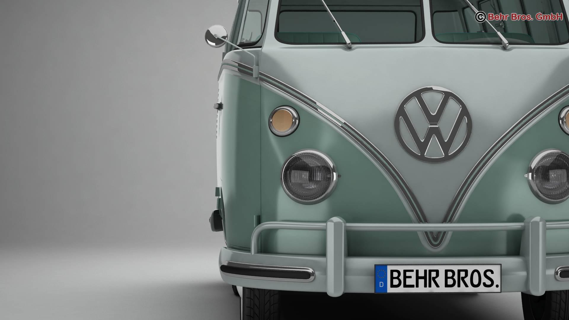 Volkswagen T1 Samba 1963 Accessories 3d model 3ds max fbx c4d lwo ma mb obj 266837