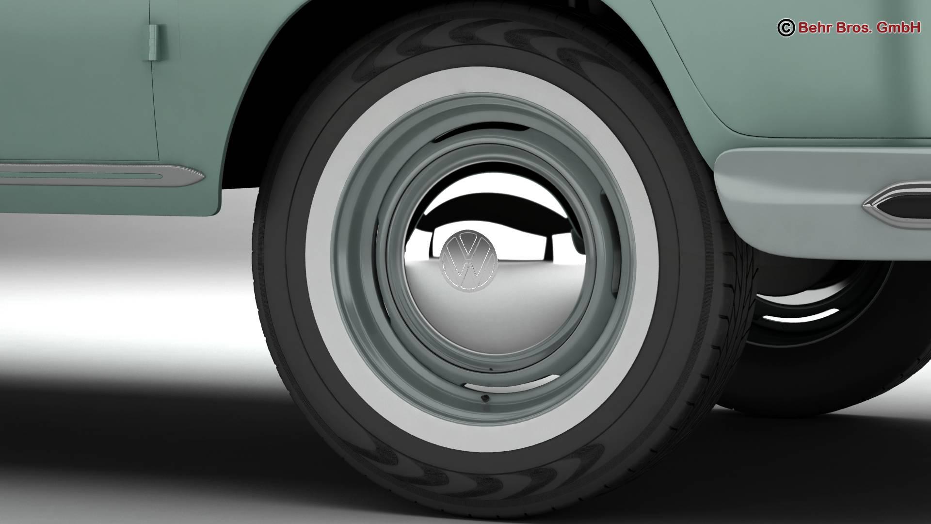 Volkswagen T1 Samba 1963 Accessories 3d model 3ds max fbx c4d lwo ma mb obj 266838