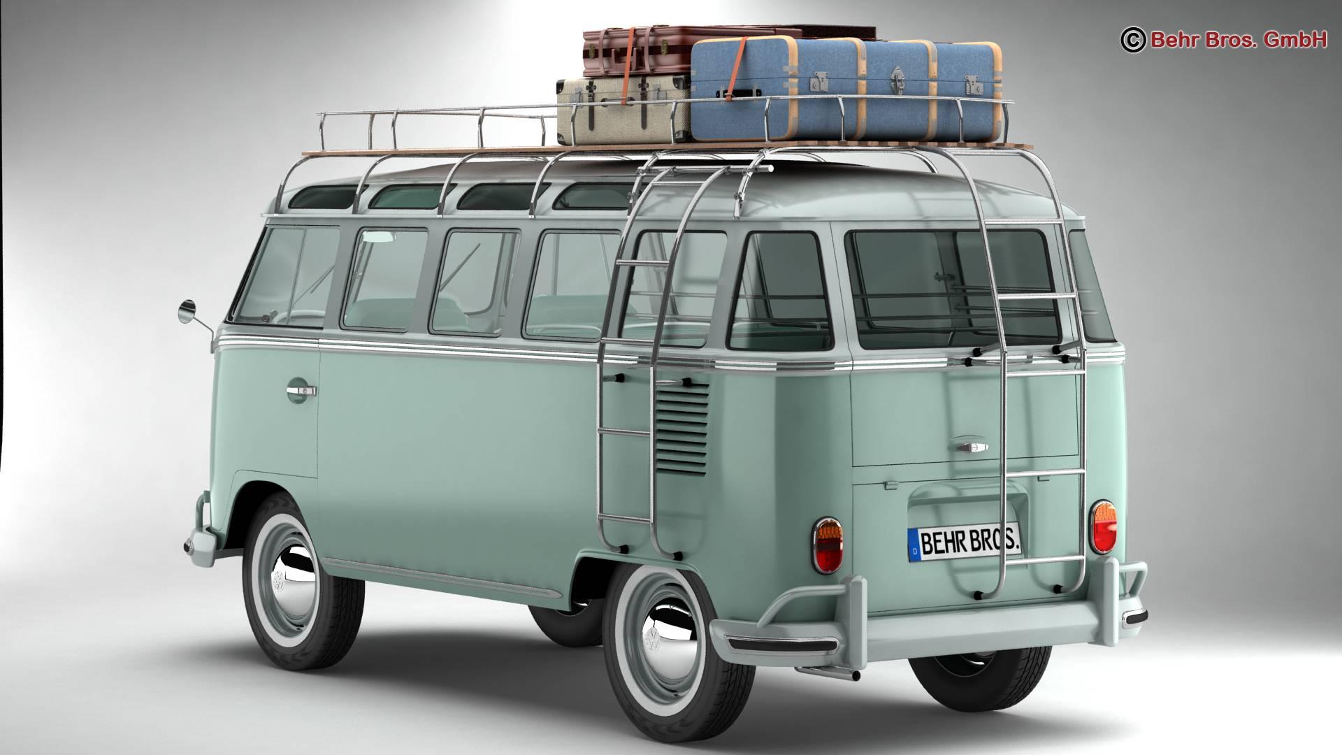 Volkswagen T1 Samba 1963 Accessories 3d model 3ds max fbx c4d lwo ma mb obj 266850