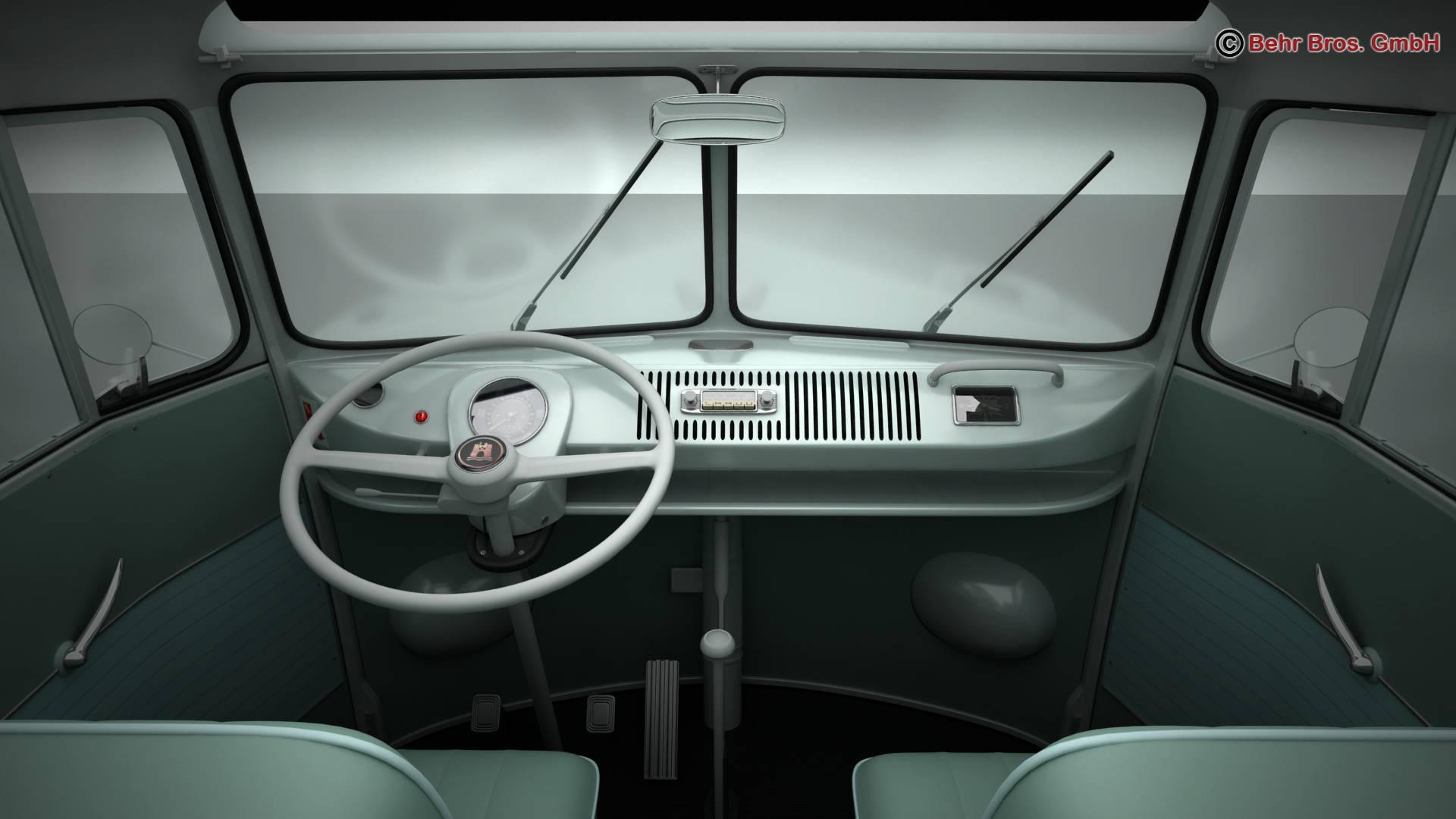 Volkswagen T1 Samba 1963 Accessories 3d model 3ds max fbx c4d lwo ma mb obj 266853