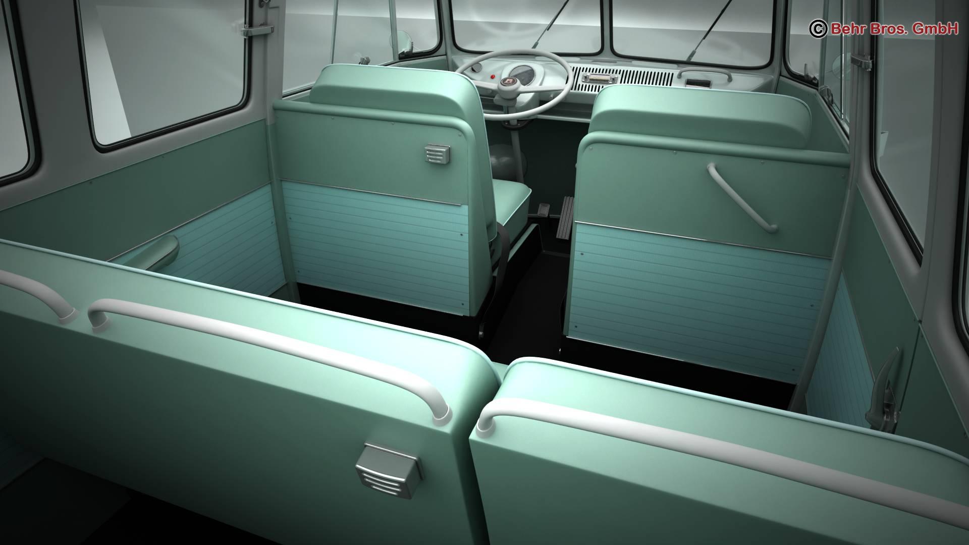 Volkswagen T1 Samba 1963 Accessories 3d model 3ds max fbx c4d lwo ma mb obj 266854