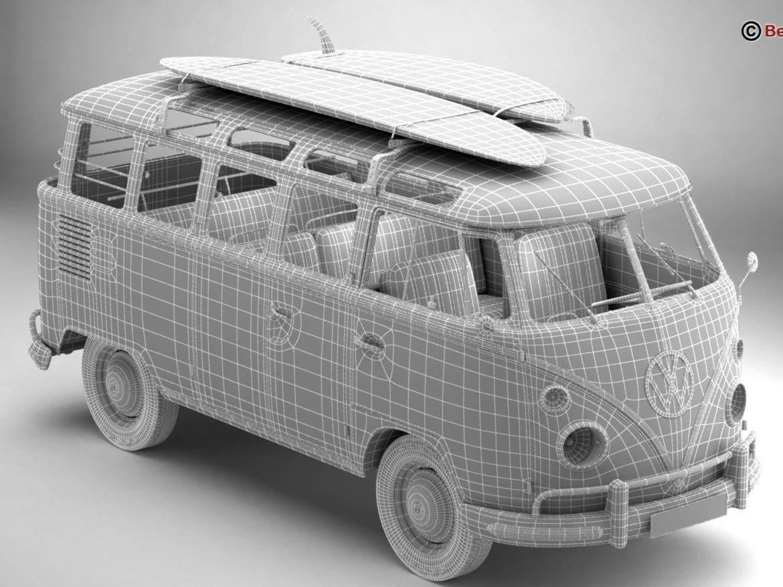 Volkswagen T1 Samba 1963 Accessories 3d model 0