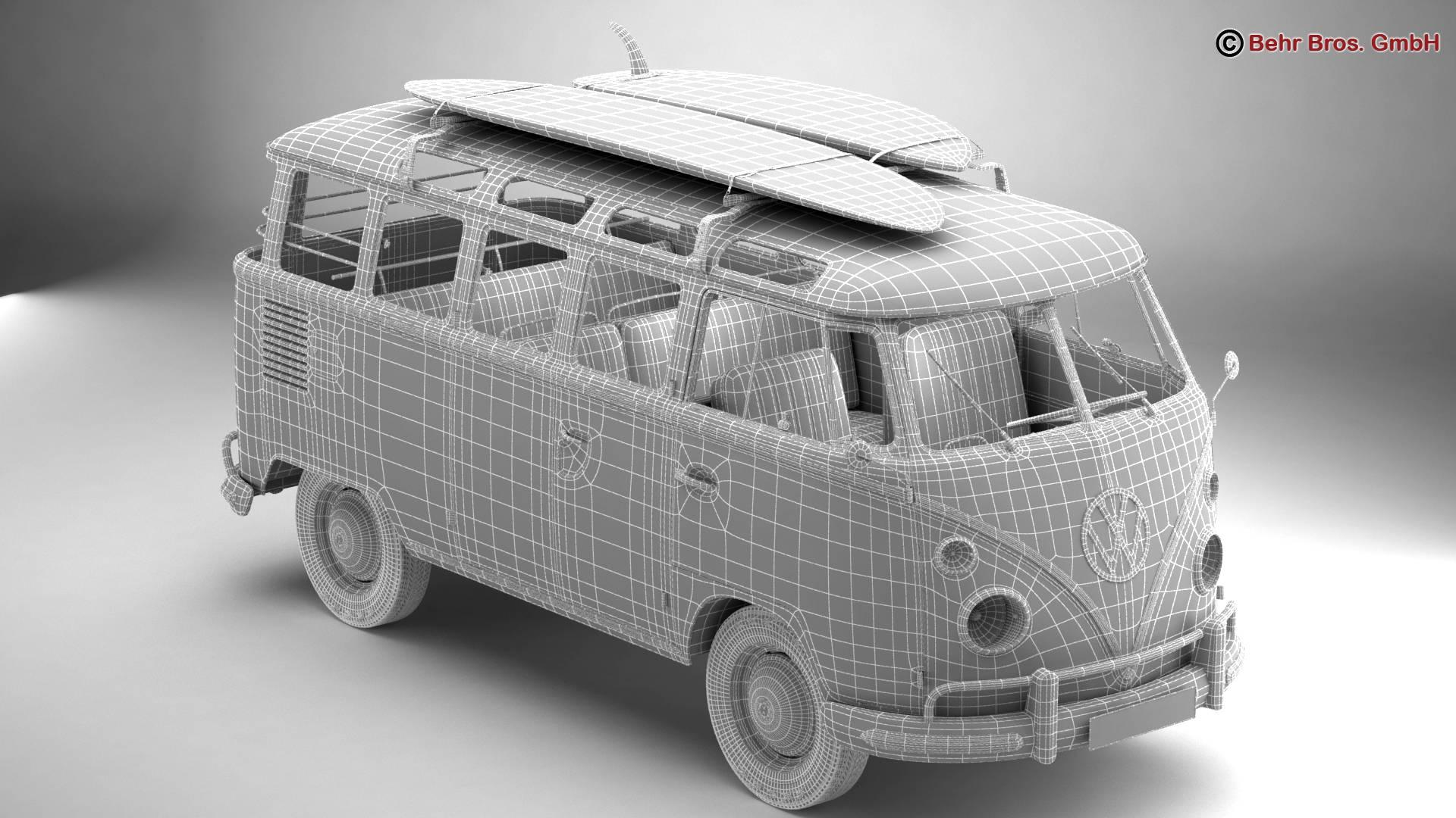 Volkswagen T1 Samba 1963 Accessories 3d model 3ds max fbx c4d lwo ma mb obj 266856