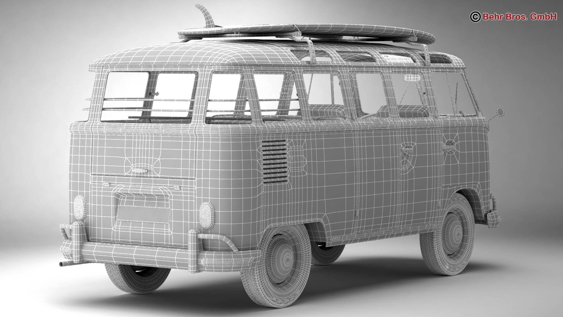 Volkswagen T1 Samba 1963 Accessories 3d model 3ds max fbx c4d lwo ma mb obj 266859