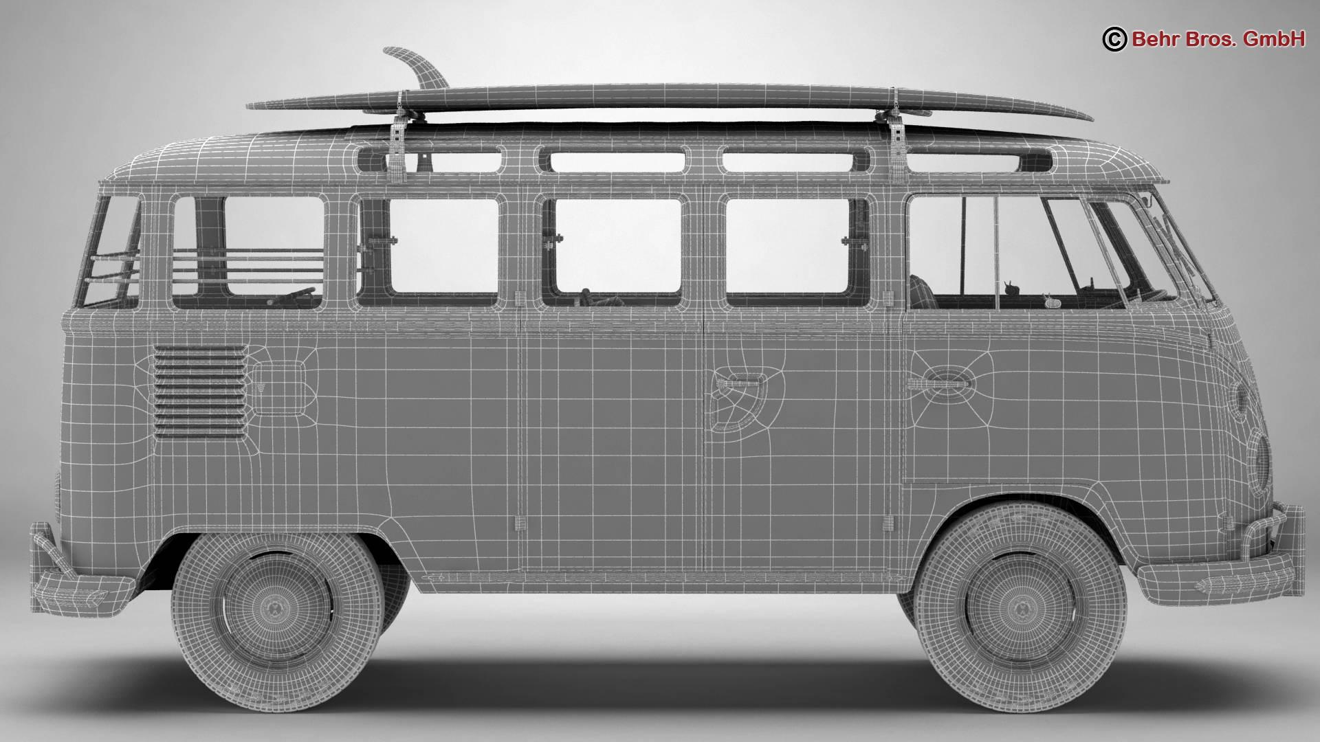 Volkswagen T1 Samba 1963 Accessories 3d model 3ds max fbx c4d lwo ma mb obj 266861