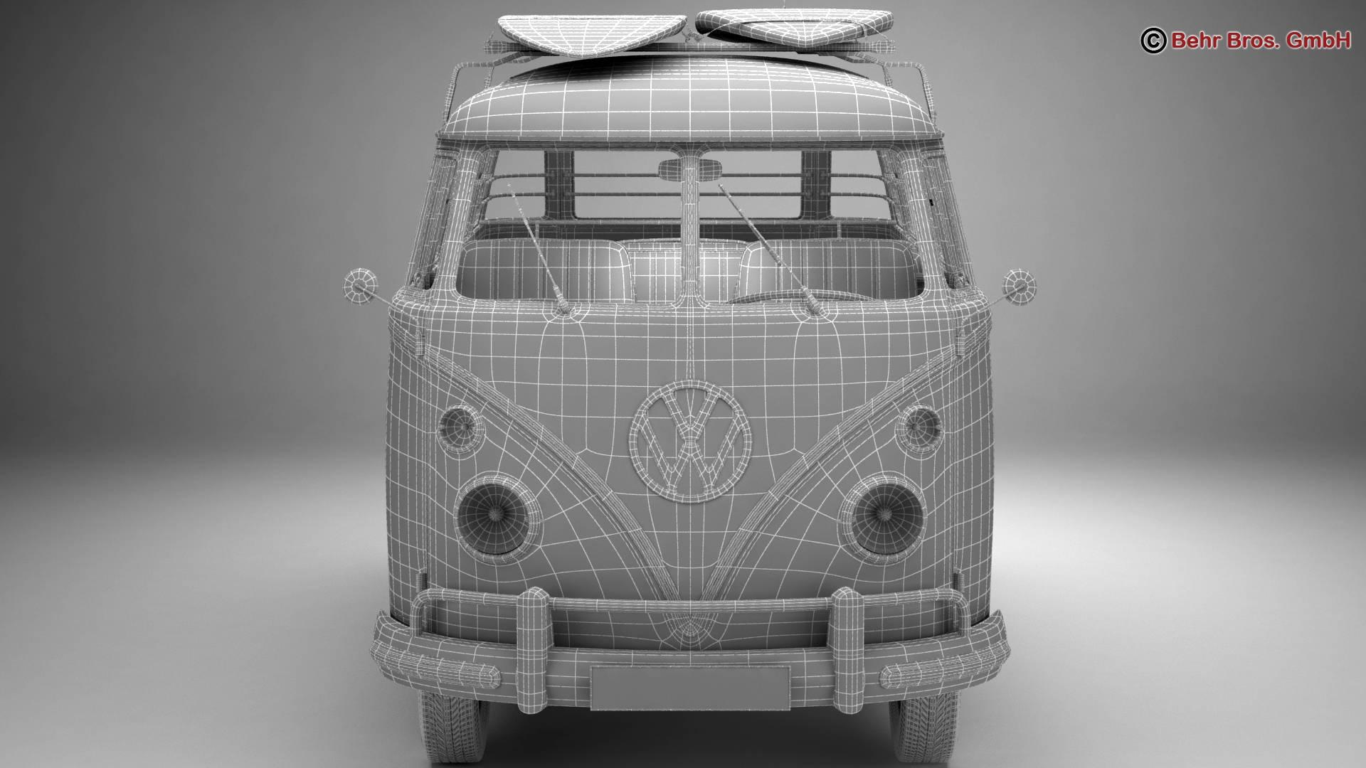 Volkswagen T1 Samba 1963 Accessories 3d model 3ds max fbx c4d lwo ma mb obj 266862