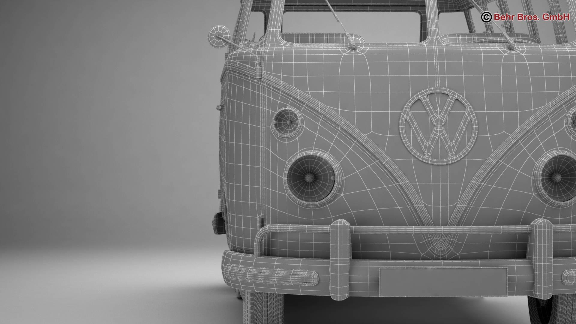 Volkswagen T1 Samba 1963 Accessories 3d model 3ds max fbx c4d lwo ma mb obj 266863