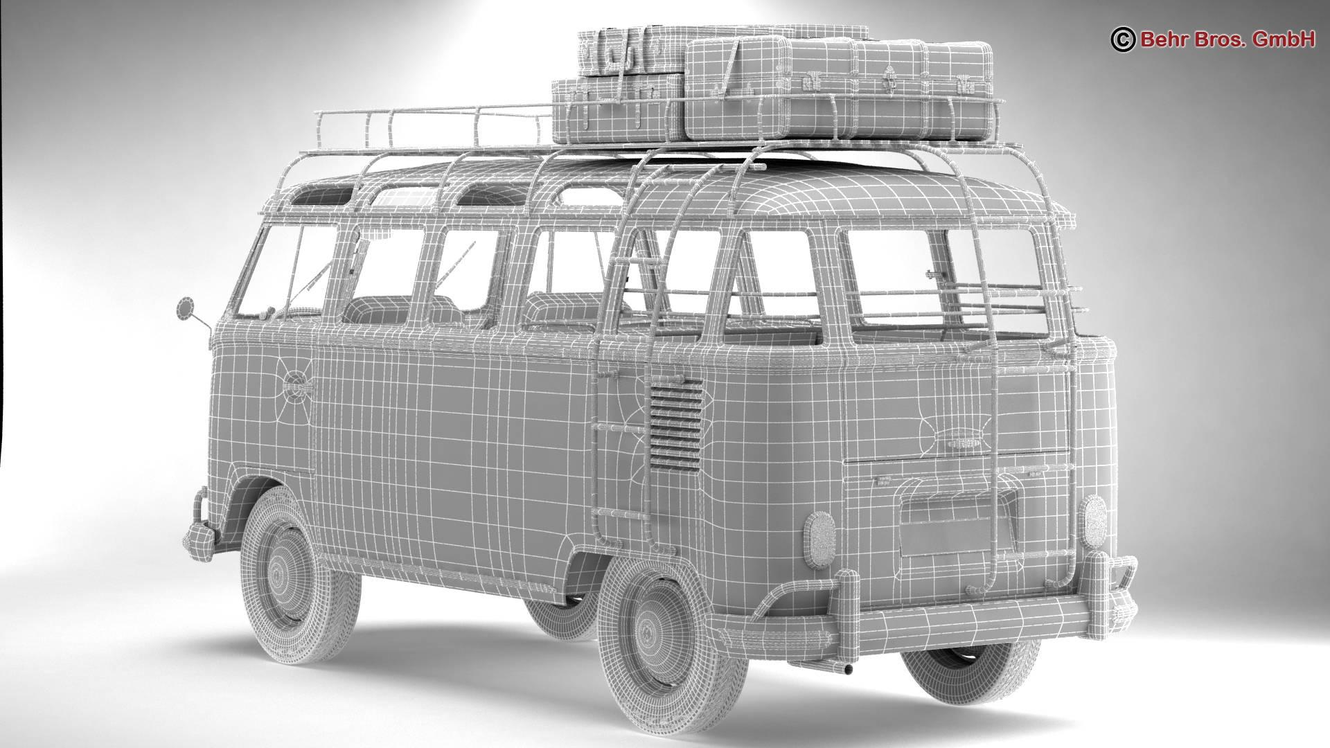 Volkswagen T1 Samba 1963 Accessories 3d model 3ds max fbx c4d lwo ma mb obj 266876