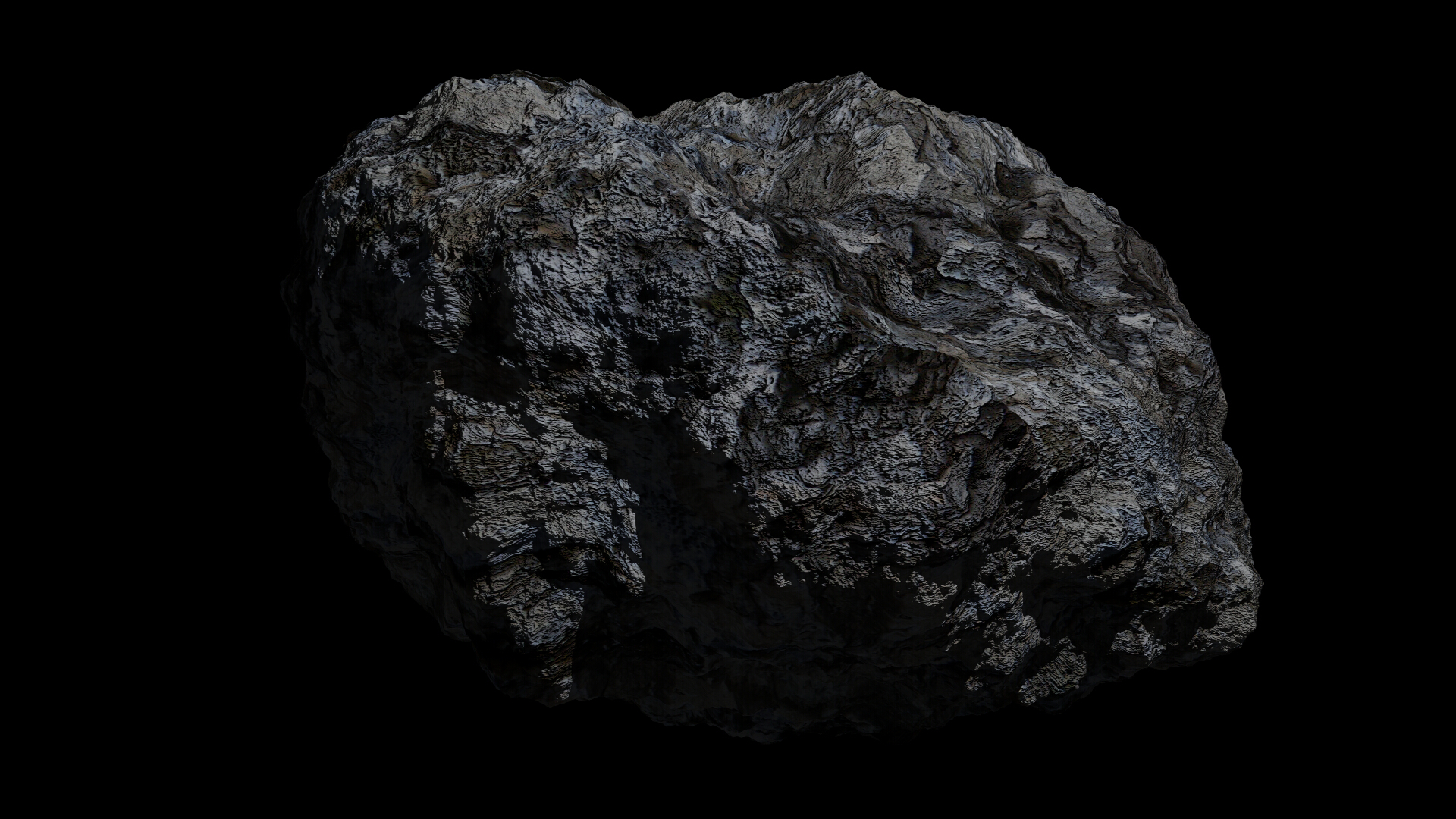 fantasy asteroid 3d model 3ds blend dae obj 266929
