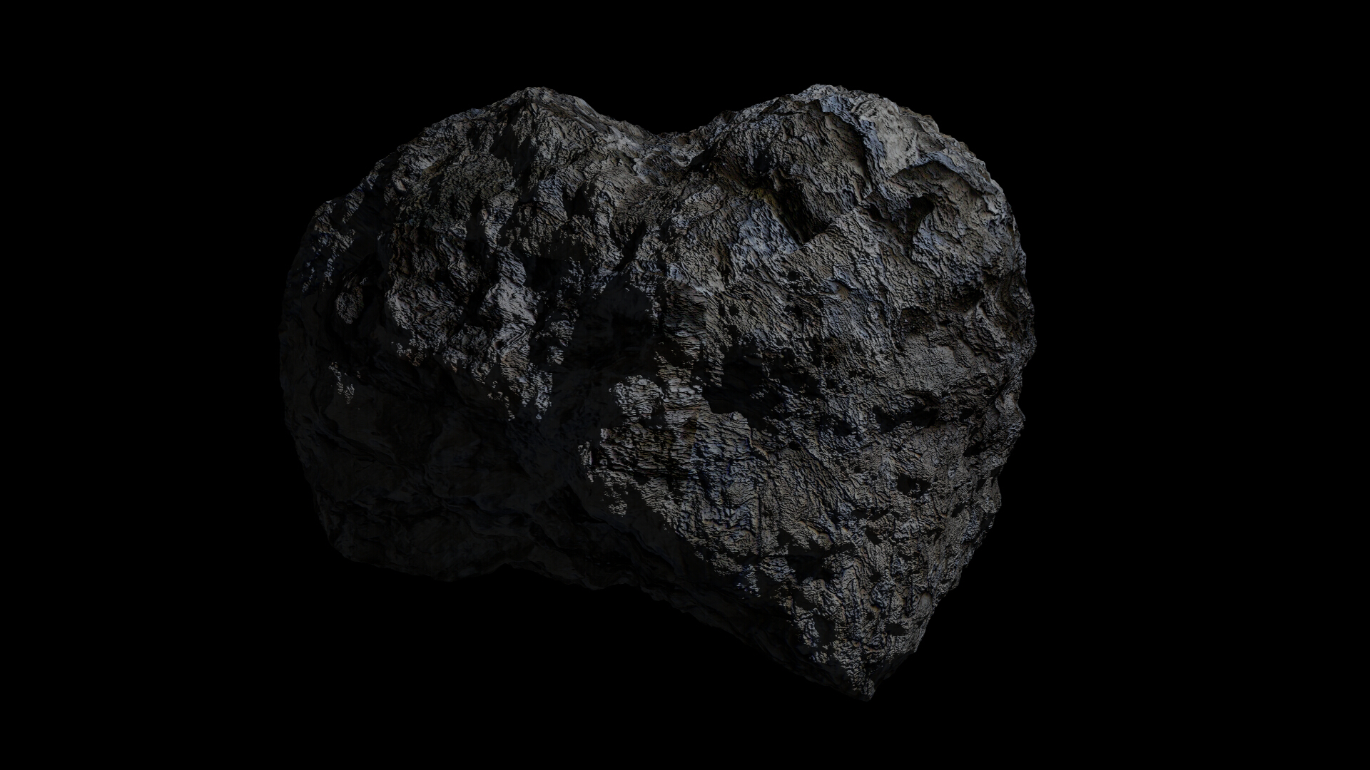 fantasy asteroid 3d model 3ds blend dae obj 266930