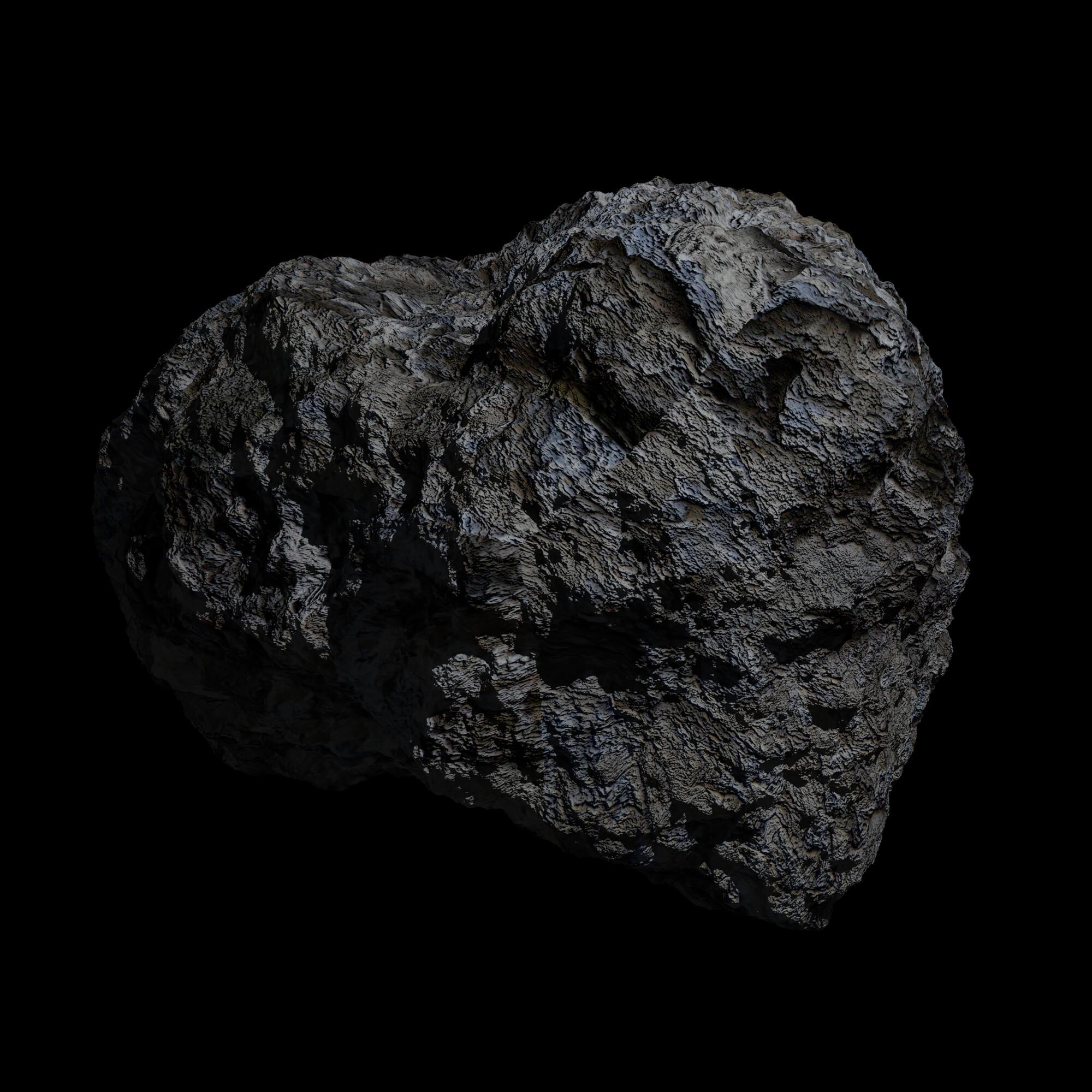 fantasy asteroid 3d model 3ds blend dae obj 266931
