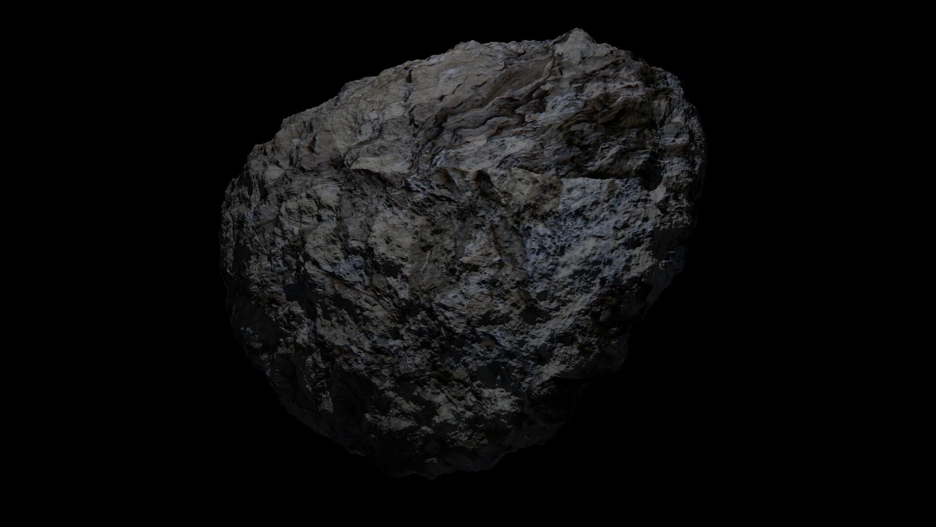 fantasy asteroid 3d model 3ds blend dae obj 266932