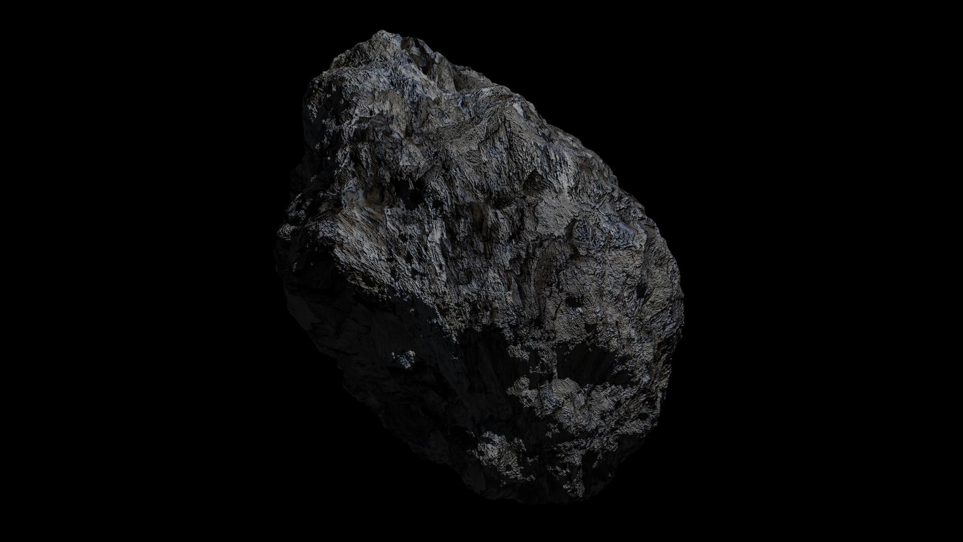 fantasy asteroid 3d model 3ds blend dae obj 266933