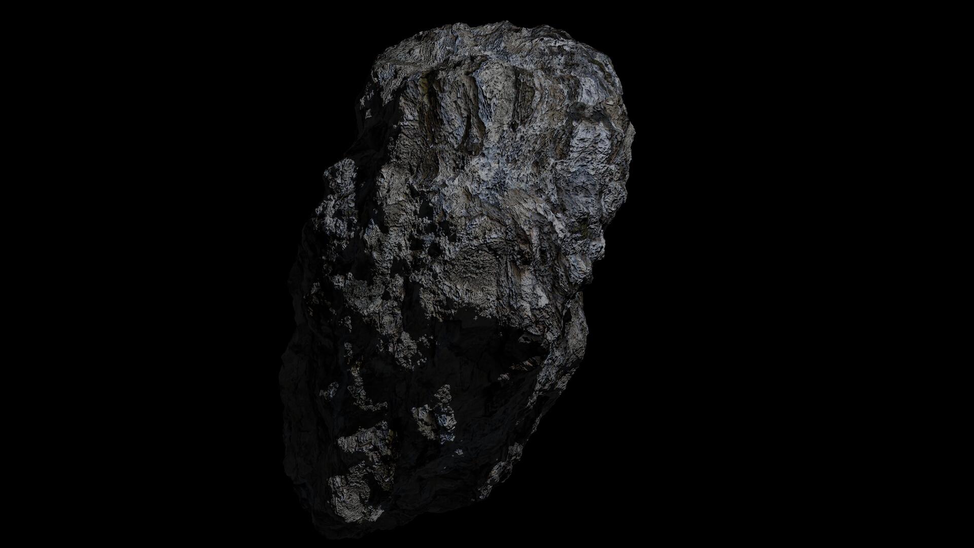 fantasy asteroid 3d model 3ds blend dae obj 266934